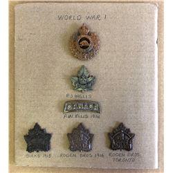 GR OF 6, WW I BADGES - CANADA