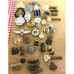 QTY OF MISC CANADIAN MILITARY BADGES