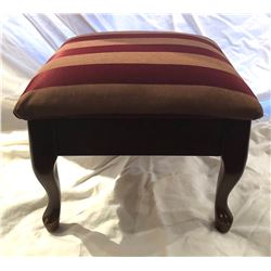 ANTIQUE VICTORIAN UPHOLSTERED FOOT STOOL