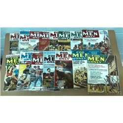 GR OF 15, FOR MEN ONLY COMIC MAGAZINES