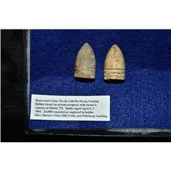 Battle of Shiloh Union Bullets, Civil War