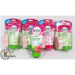 LOT OF 5 NEW HAIR REMOVAL PRODUCT.