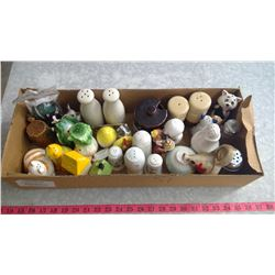 LOT OF ASSORTED SALT & PEPPER SHAKERS - SOME MISMATCHED