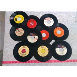 LOT OF 10 ASSORTED RECORDS