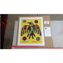 """THUNDERBIRD BY NORVAL MORRISSEAU (20"""" X 24"""" UNFRAMED REPRODUCTION)"""