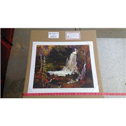 """WOODLAND WATERFALLS BY TOM THOMSON (20"""" X 24"""" UNFRAMED REPRODUCTION)"""