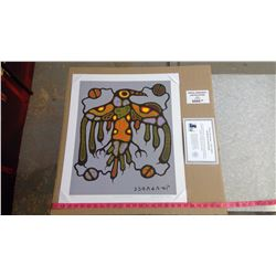 """SACRED THUNDERBIRD BY NORVAL MORRISSEAU (20"""" X 24"""" UNFRAMED REPRODUCTION)"""
