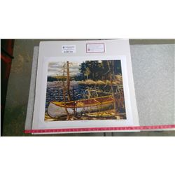 """THE CANOE BY TOM THOMSON (20"""" X 24"""" UNFRAMED REPRODUCTION)"""