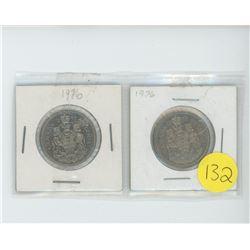 2 1976 50 cent coins
