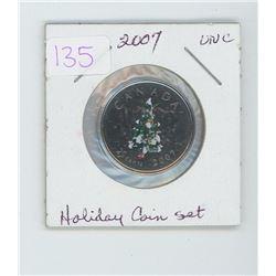 2007 Holiday coin set quarter