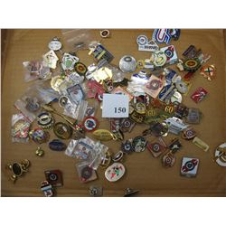 CURLING PINS - LOT OF 100 DIFFERENT - BRIER,  SCOTTIES,  ETC.