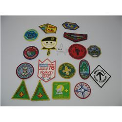 LOT OF BOY SCOUT / GIRL GUIDE PATCHES -  ACHIEVEMENT PATCHES - JAMBOREE'S