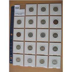 GEORGE VI NICKELS - 1937 to 1952  (19 Coins)