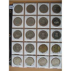 ALBERTA SOUVENIR COINS - Lot of 20 Different