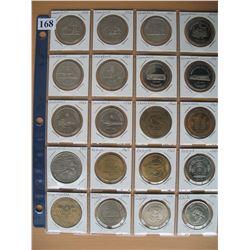 SASKATCHEWAN SOUVENIR COINS - Lot of 20 Different