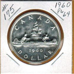 1960 CANADIAN SILVER DOLLAR - PL64