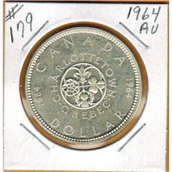 1964 CANADIAN SILVER DOLLAR - AU