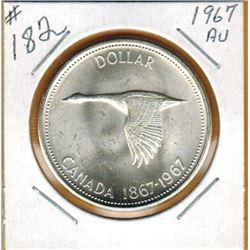 1967 CANADIAN SILVER DOLLAR - AU