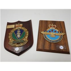 TWO MILITARY PLAQUES