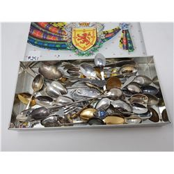 TIN OF COLLECTOR SPOONS