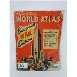 RAND MCNALLY WORLD ATLAS 1939