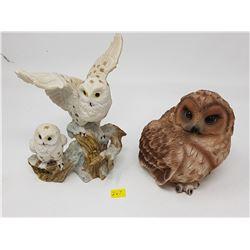 TWO OWL FIGURES
