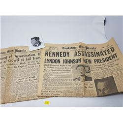 1963 KENNEDY NEWSPAPER