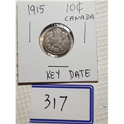 10 CENT COIN (1915 - KEY DATE DIME)