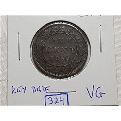 1858 KEY DATE 1 CENT COIN