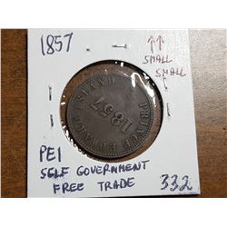 1857 P.E.I. SELF GOVERNMENT FREE TRADE