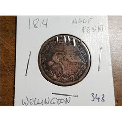1814 WELLINGTON HALF PENNY TOKEN