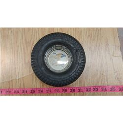 GOODYEAR TIRE ASHTRAY WITH GLASS INSERT