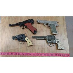 4 TOY CAP GUNS