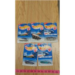 5 HOTWHEELS CARS IN PACKAGE 1994-1995
