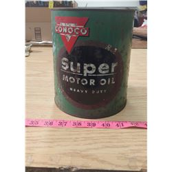 CONOCO SUPER MOTOR OIL CAN (4 US QUART)