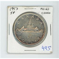 1953 SF MS 63 CANADIAN $1.00
