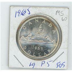 1965 LARGE BEAD P5-MS CANADIAN DOLLAR
