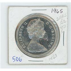 1965 SMALL BEAD P5-MS CANADIAN DOLLAR