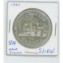 1981 STEAM TRAIN CANADIAN SILVER DOLLAR