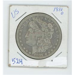 1881O MORGAN USA DOLLAR