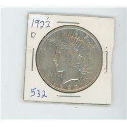 1922D PEACE DOLLAR USA