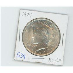 1924 PEACE DOLLAR USA