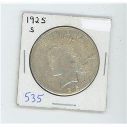 1925S PEACE DOLLAR USA