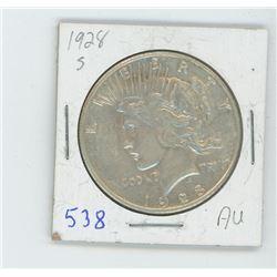 1928S PEACE DOLLAR USA