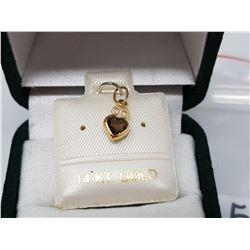 14K YELLOW GOLD SMOKY TOPAZ PENDANT (MSRP $240)