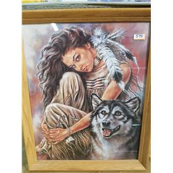 GIRL WITH WOLF BY BRUCE LAKAFK