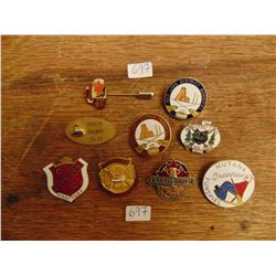 VINTAGE AND MODERN CURLING PIN LOT OF 9