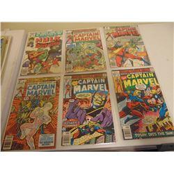 FIVE CAPTAIN MARVEL 35 & 40 CENT COMICS AND INCREDIBLE HULK COMIC