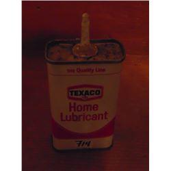 TEXACO HOME LUBRICANT TIN