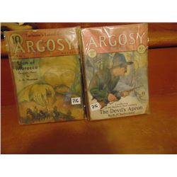 TWO VINTAGE 1930'S ARGOSY MAGAZINES